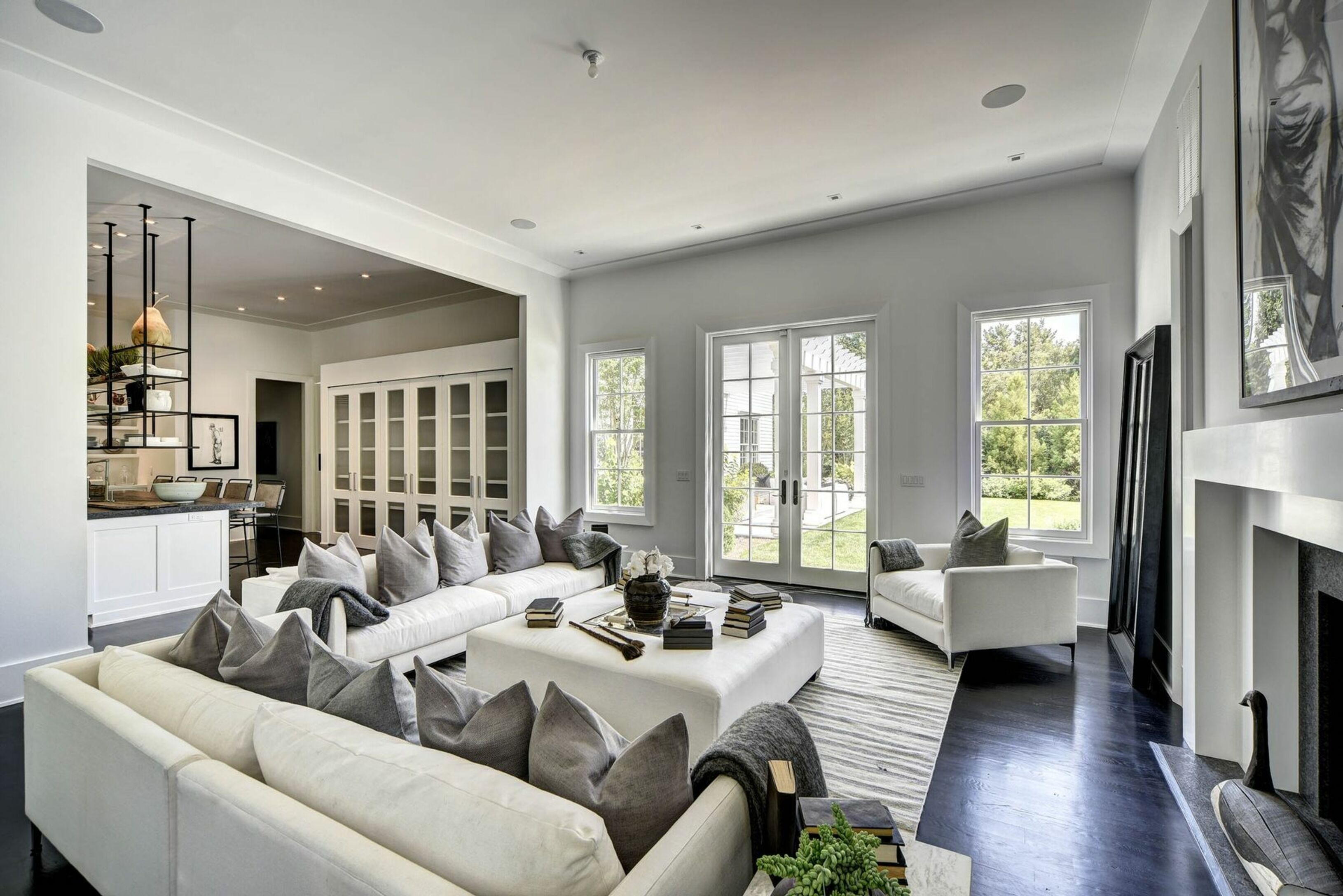 stunning east hampton living room design | 155 Wyandanch Ln in Southampton | Out East